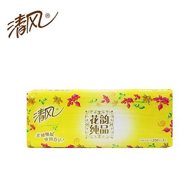 清风 花韵系列袋装面巾纸 3包/组  B338RC/BR38LS