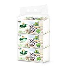 心相印 优选袋装面巾纸 200抽(双层)  DT-9200