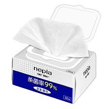 妮飘 30抽抑菌湿纸巾 30抽  WTS30A