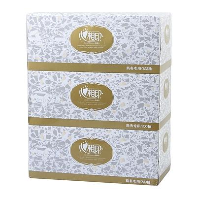 商用恒金系列2层200抽盒装面巾纸