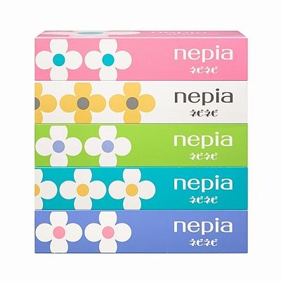 妮飘 盒装面巾纸(日本原装进口) 150抽(双层)*5盒  BFNN150