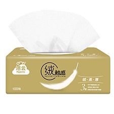 潔云 絨觸感3層100抽塑包面紙 10包裝  H162062