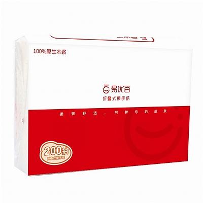單層200抽折疊式擦手紙(量販裝)