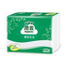 潔云 柔韌壓花衛生紙 400張(單層)  10370001