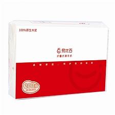 易優百 單層200抽折疊式擦手紙 200抽/包  單包裝