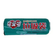 可爱可 一次性彩色垃圾袋 (黑色) 450*550mm
