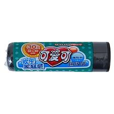 可爱可 一次性彩色垃圾袋 (黑色) 500*600mm