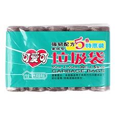 可爱可 家居型垃圾袋特惠装 (黑) 45*55cm(30只*5卷)