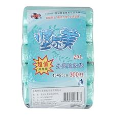 坚尔美 点断式彩色分类垃圾袋超值10卷装 45*55cm(30只*10卷)  68289