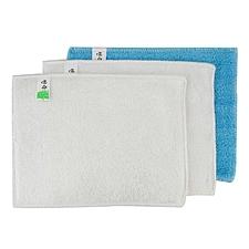 敏胤 竹纤维多功能洗碗清洁巾特惠装 (混色) 3片装  蓝色*1片+白色*2片