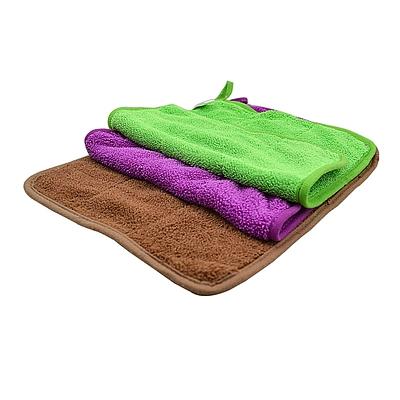 敏胤 超细纤维珊瑚绒多功能清洁巾 (彩色) 中号25*30cm 3条/包  M253