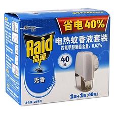 雷达 无线电热蚊香液加热器套装 1器+1瓶(21ml)  无香