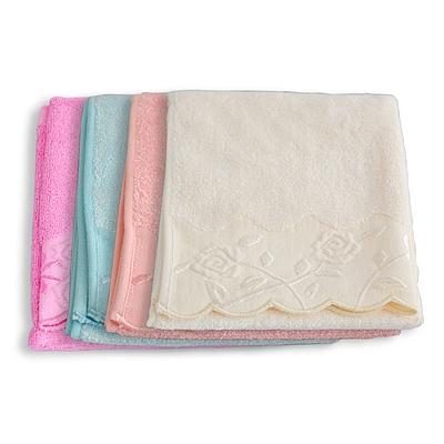 竹纤维花边毛巾