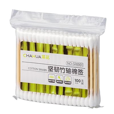 茶花 坚韧竹轴棉签 100支  G10001