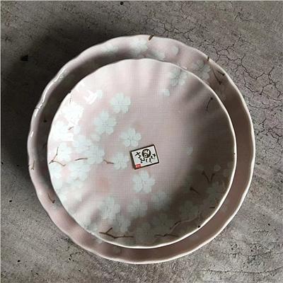 美浓烧 日式陶瓷云樱大盘 (云樱) 16cm  4904-16P