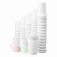 易优百 白色纸杯 (白色) 500只/箱  白色9盎司