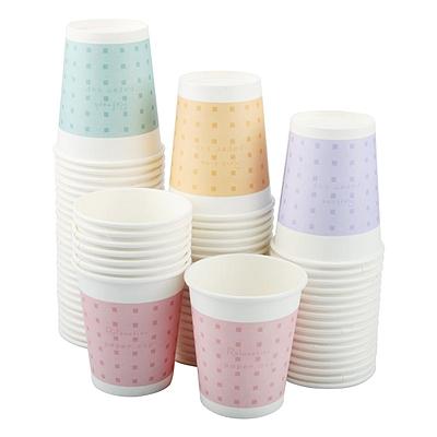 易优百 花色纸杯 (花色) 250ml 100只/袋  花色9盎司
