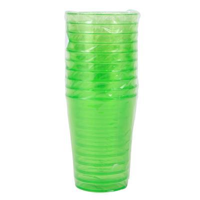坚尔美 彩色塑料杯 大号250ml