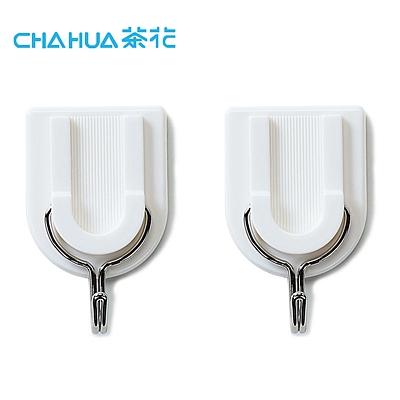 茶花 方圆五金强力粘勾 (白色) 2个装  2909