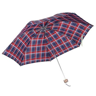 天堂伞 格子英伦商务三折晴雨伞 (混色) 57cm*7K  339S