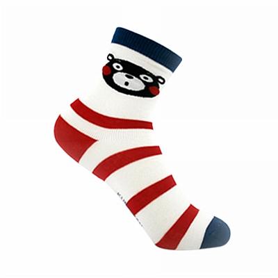 酷MA萌 儿童袜子 红条纹