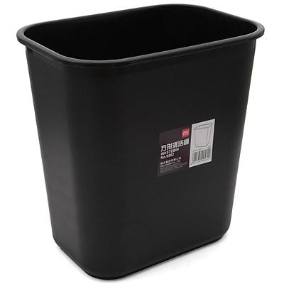 得力 方形清洁桶 (黑)  9562
