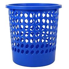 得力 圆形纸篓 (蓝)  9556