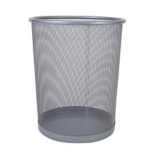 敏胤 小号丝网垃圾桶 (银) 小号  L3515