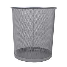 敏胤 中号丝网垃圾桶 (银) 中号  L5002