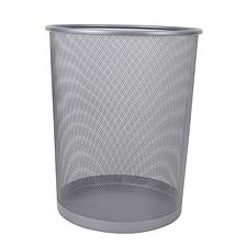 敏胤 大号丝网垃圾桶 (银) 大号  L5001