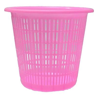 国产 塑料镂空中号垃圾桶 (混色)