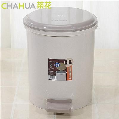 茶花 脚踏式垃圾桶 (随机) 9.6L  1509