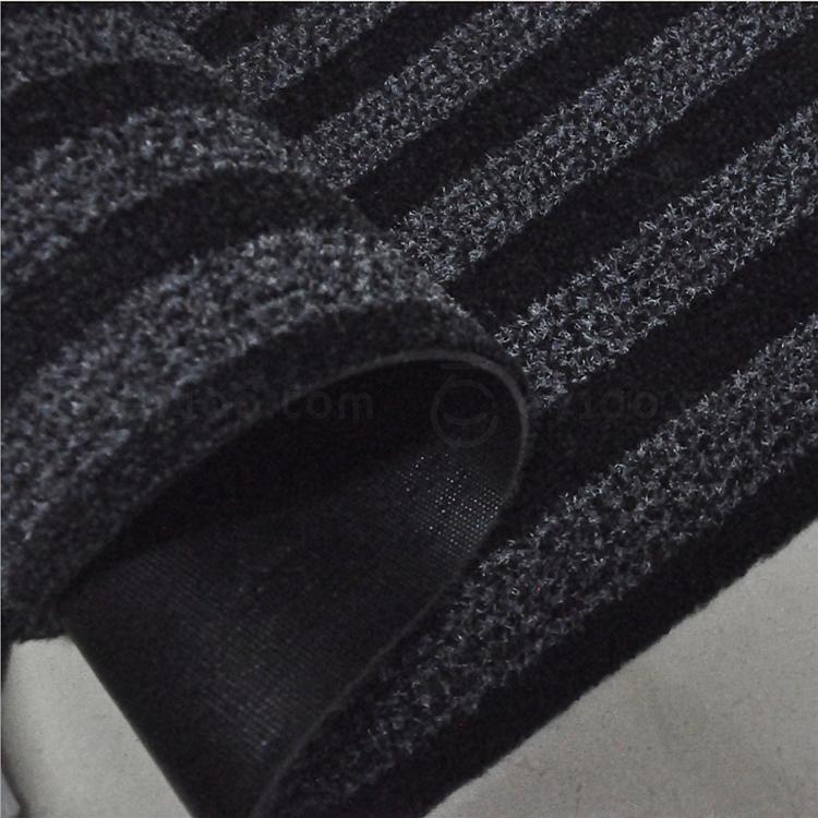 丽施美 雅福刮沙除尘吸水条纹地垫 (黑灰) 1.0*1.2m  TPYF10-100120