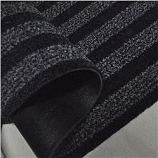 丽施美 雅福刮沙除尘吸水条纹地垫 (黑灰) 1.0*1.8m  TPYF10-100180