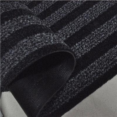 丽施美 雅福刮沙除尘吸水条纹地垫 (黑灰) 1.0*2.4m  TPYF10-100240