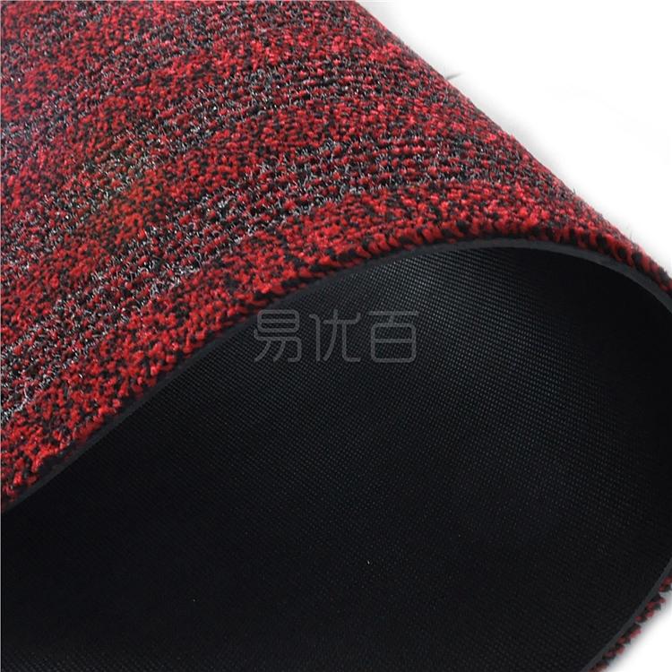 丽施美 雅福刮沙除尘吸水条纹地垫 (红灰) 0.6*1.0m  TPYF20-060100