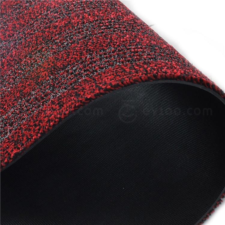 丽施美 雅福刮沙除尘吸水条纹地垫 (红灰) 1.0*1.5m  TPYF20-100150