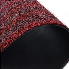 丽施美 雅福刮沙除尘吸水条纹地垫 (红灰) 1.0*2.4m  TPYF20-100240