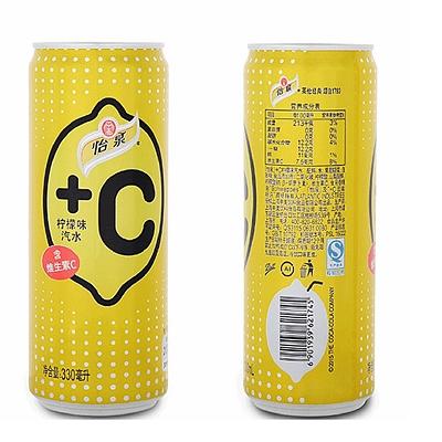 怡泉 +c柠檬味汽水 330ml*24罐/箱