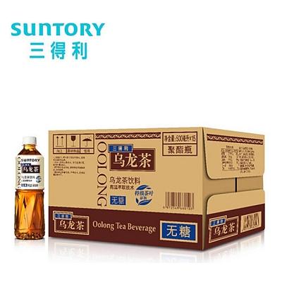 三得利 乌龙茶饮料 500ml×15瓶  无糖