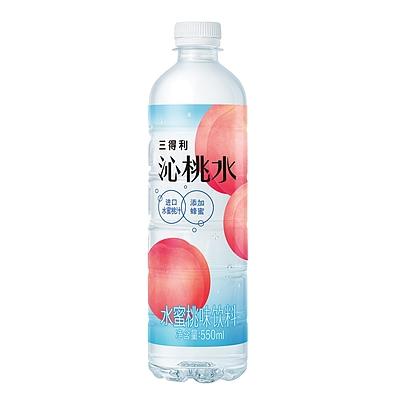 三得利 沁桃水水蜜桃味饮料 550ml*15瓶/箱