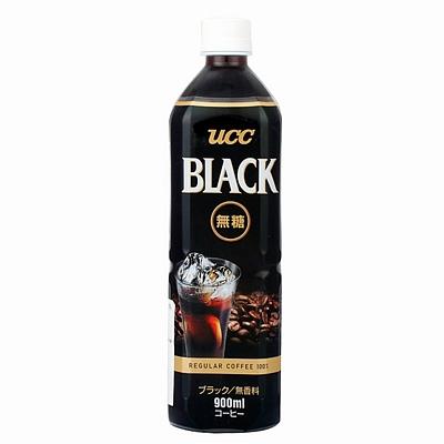 悠诗诗 UCC无糖黑咖啡饮料 900ml*12瓶/箱
