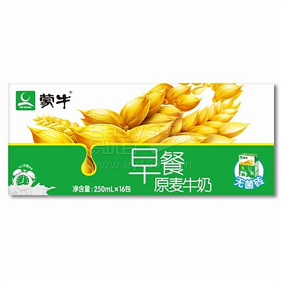 蒙牛 利乐包早餐麦香奶 250ml*16  麦香奶