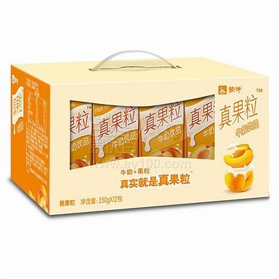 蒙牛 真果粒黄桃 250ml*12  黄桃