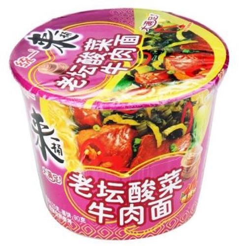 统一 来一桶老坛酸菜牛肉面 120g
