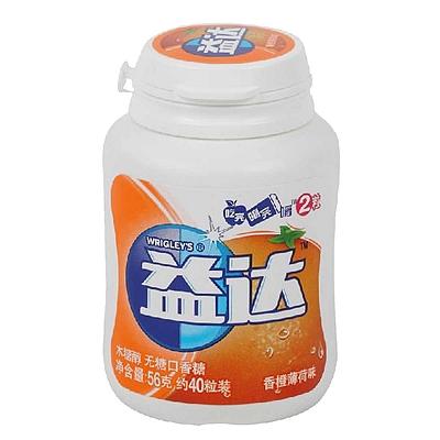 益达 木糖醇无糖口香糖 56g(约40粒装)  香橙薄荷味