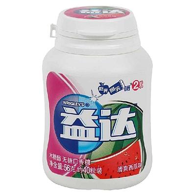 益达 木糖醇无糖口香糖 56g(约40粒装)  清爽西瓜味