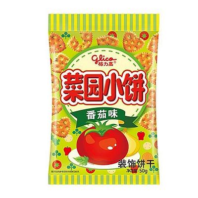 格力高 菜园小饼 50g  番茄