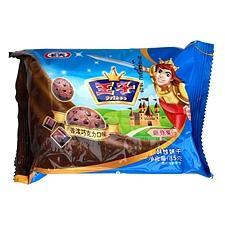 达能王子 曲奇星饼干 85g  巧克力