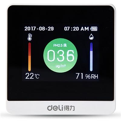 得力 PM2.5空气质量检测仪 (白) 70*70*40mm  8805